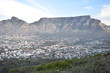 Beautiful Landscape with the big Table Mountain photographed from the Signal Hill in Cape Town, South Africa - 207605884