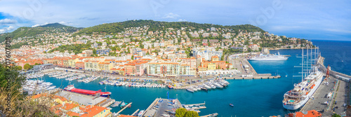Fotobehang Nice Panorama - Port of Nice, France