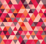 Seamless abstract colorful triangle geometrical background. Endless pattern. Seamless vector illustration. - 207616434