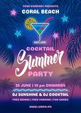 Summer Night Party Poster Template - 207618246