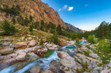Mountain Stream in Central Corsica, France around sunset - 207620272