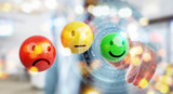 Businessman using customer satisfaction rating 3D rendering - 207627038
