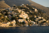 Simi Island, houses and harbor, Greece. - 207631834