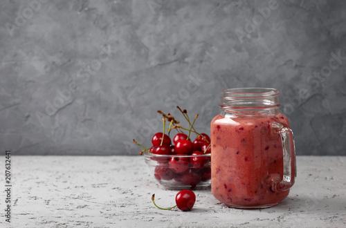 Fotobehang Kersen cherry smoothie