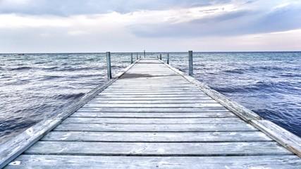 Ostseeküste - Steg ins Meer © franziskahoppe
