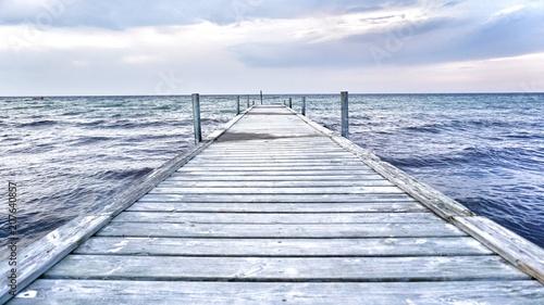 Canvas Pier Ostseeküste - Steg ins Meer