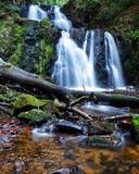 Wasserfall im  Wald in Schweden