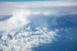 Cloudy sky background. View out of an airplane window. - 207644697
