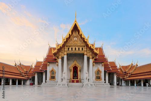 Fotobehang Thailand Marble Temple of Bangkok, Thailand.
