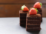 super chocolate truffle cake with fresh berries