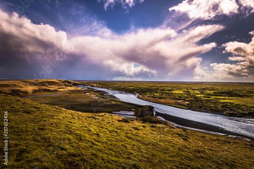 Fotobehang Lichtroze Fjadrargljufur - May 05, 2018: Panorama of the wild landscape of Fjadrargljufur, Iceland