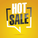 Hot sale in brackets yellow white black isolated sticker icon - 207653854