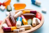 Medicine, tablet, vitamin and drug in various shape - 207656466