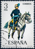 stamp printed in Spain shows commander of staff 1894 - 207662662