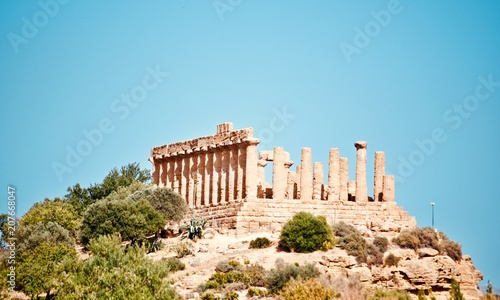 Temples in Agrigento, Greek operas of the ancient city of Akragas, located in the Valley of the Temples of Agrigento in Sicily.