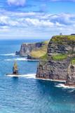 Irland Cliffs of Moher Klippen Reise reisen Landschaft Meer Tourismus Hochformat Natur Ozean