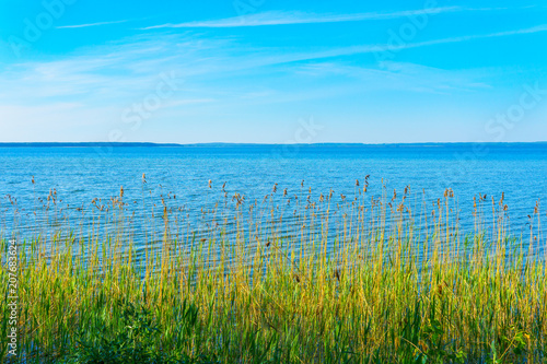 Fotobehang Blauw lake in belarus