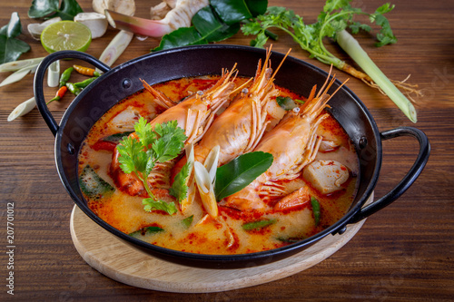 Fotobehang Thailand Tom yam kung is a spicy clear soup typical in Thailand