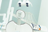 Dental tools and accessories used by dentists in office