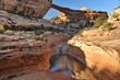 USA. Natural bridges of white stone