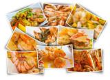 plats cuisinés, paëlla et gambas - 207708050