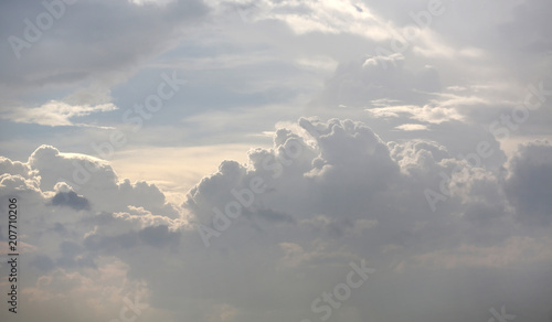 White sky background with clouds. - 207710206