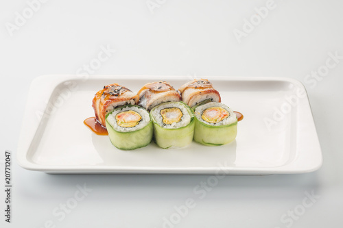 Aluminium Sushi bar Sushi set food photography