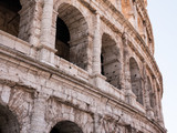 details on the windows of the colosseum, Rome Italy