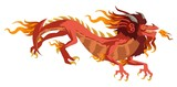 red chinese asian flying dragon - 207713022