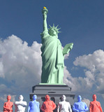 Statue of Liberty American people low poly - 207714072