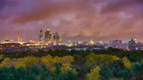 Timelapse of sunrise over Moscow city - 207714608