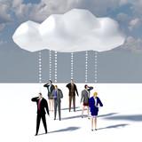 Business people data cloud communication - 207715093