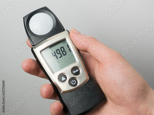 Lux Meter For Measuring Light Intensity Of Office Room