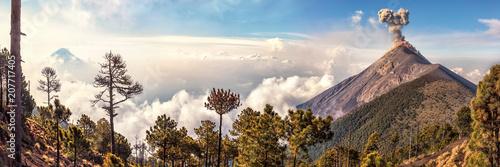 Volcanoes Agua and Fuego,View from Acatenango, Guatemala © Ingo Bartussek