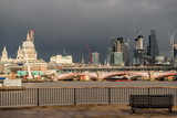City of London, Millennium bridge and St. Paul's cathedral, Business office, England, UK
