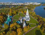 Church of Ascension in Kolomenskoe - Moscow Russia - aerial view - 207720050
