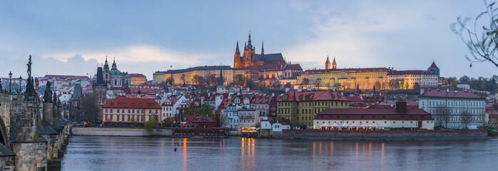 View of Prague Castle from Charles Bridge, Prague, Czech Republic © underwaterstas