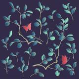 日本的な植物のイラスト, - 207721218
