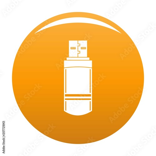 Small flash drive icon  Simple illustration of small flash