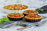 Mini quiche with chicken, onion and sweet pepper. - 207726458