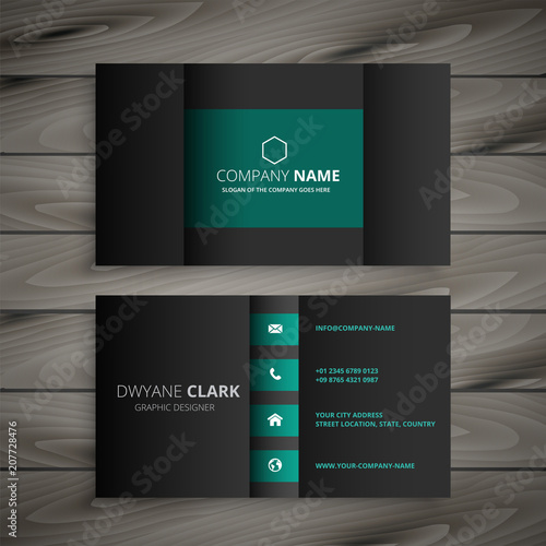 Poster professional dark business card design