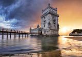 Lisbon, Belem tower at sunset, Lisboa - Portugal - 207729067