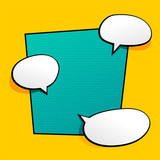 background with comic chat bubble - 207730043