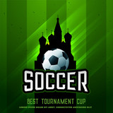 russia football tournament cup shiny background - 207730266