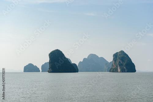 Fotobehang Zeilen Beautiful scenic view of Phang Nga bay near Phuket Thailand