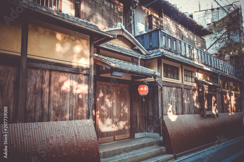Fotobehang Kyoto Traditional japanese houses, Gion district, Kyoto, Japan