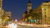 Pennsylvania Avenue and Capitol at night, Washington DC, USA - 207739266