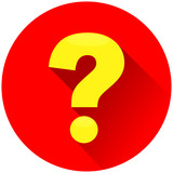 question mark red circle icon
