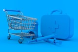 Healthcare background with shopping cart - 207749894