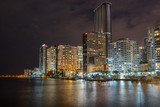 Looking across the Miami River to Brickell in Miami Florida - 207761496